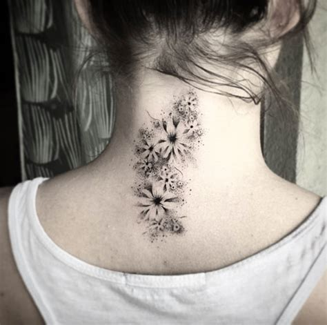 tattoo pain neck back 40 beautiful back neck tattoos for women tattooblend