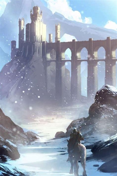 concept art  ryan gitter   art fantasy castle