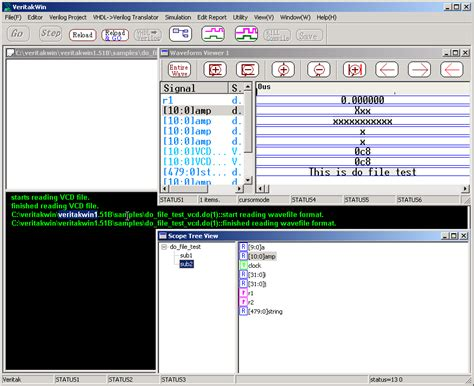 format file vcd double click the line of do file test vcd do 1 start
