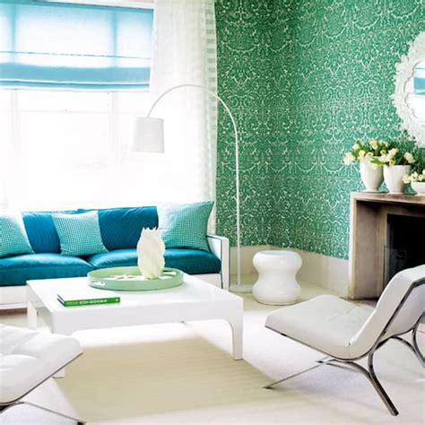 blue  green interiors design  interesting