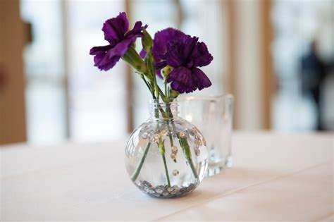 wedding centerpiece small vase filled with water
