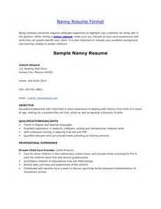Example Nanny Resume Best Job Description Of A Nanny For Resume Job Description