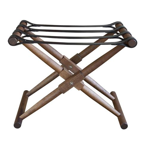 bridle racks for sale oiled walnut matthiessen luggage rack with english bridle leather strapping for sale at 1stdibs