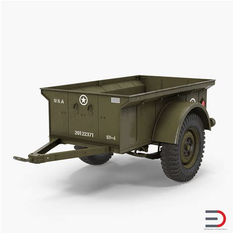 military jeep trailer ww2 military jeep trailer 3d model 3d models of cars