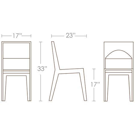 dimensions of dining chair images