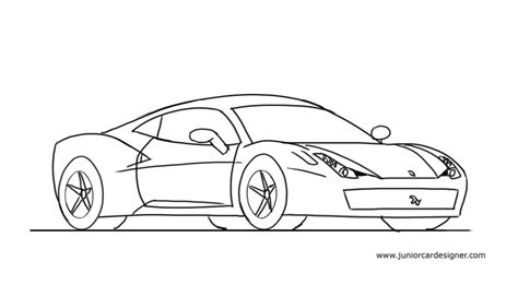 kid car drawing how to draw a ferrari 458 junior car designer