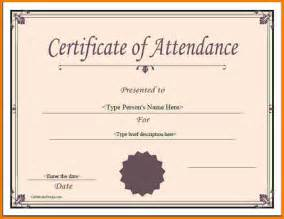 Attendance Certificate Templates by Blank Sign Template