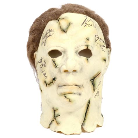rob mask rob s cast autographed michael myers mask