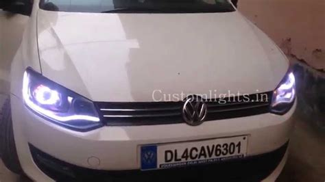 volkswagen polo headlights modified volkswagen polo projector ls and drl by