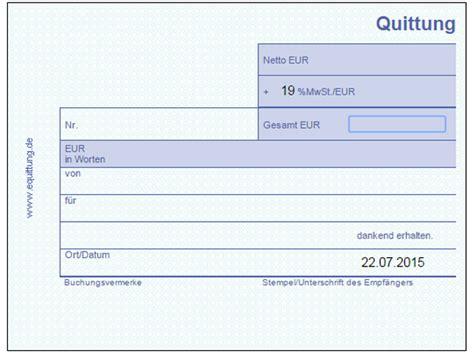Word Vorlage Quittung Kostenlos Quittung Vorlage Chip