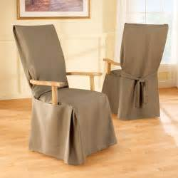 Dining Room Arm Chair Slipcovers sure fit cotton duck long arm dining room chair cover at hayneedle