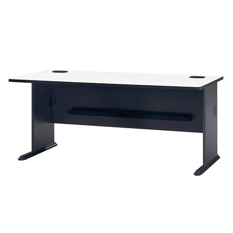 bush business series a 72 quot desk in slate wc84872