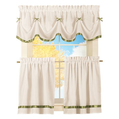bow curtains dainty bow curtain tier set by collections etc ebay
