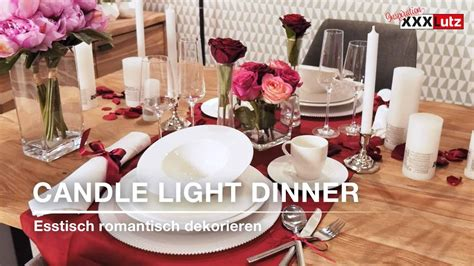 tischdeko dinner diy tischdeko candle light dinner xxxlutz youtube