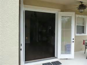 phantom retractable disappearing screen doors mounted on
