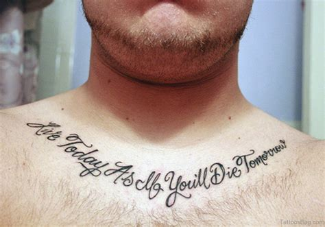 chest quote tattoos 75 adorable wording tattoos for chest