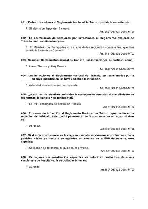 simulacro de examenes del touring lima peru balotario 2 simulacro examen mtc peru www blucero c la