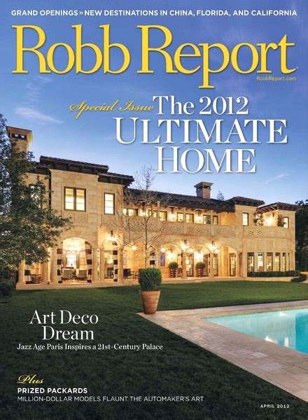 Robb Report Magazine by Robb Report April 2012 Pdf Magazine