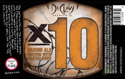 exle of yeast duclaw exile series x10 saison w cantaloupe mybeerbuzz
