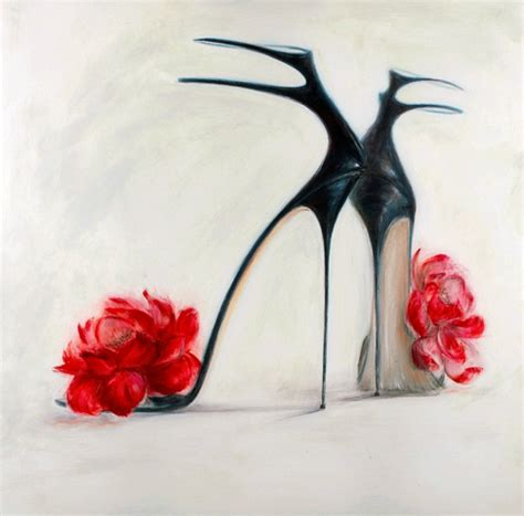 high heel shoe paintings shoe paintings glamorous by o neal culture