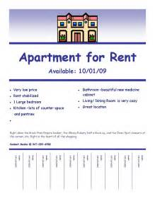 Apartment For Rent Flyer Template Free by Quot Fulfilling Your Creative Needs Quot