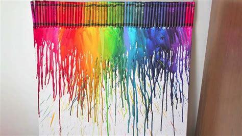 cuadro con ceras derretidas diy cuadro con crayolas derretidas decora tu habitaci 243 n