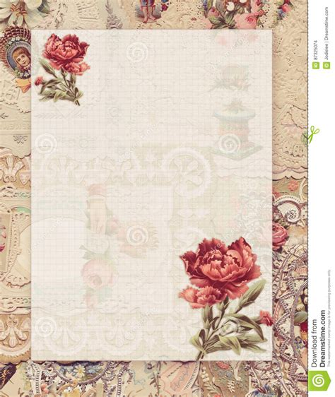 free printable antique stationary printable vintage shabby chic style floral stationary on