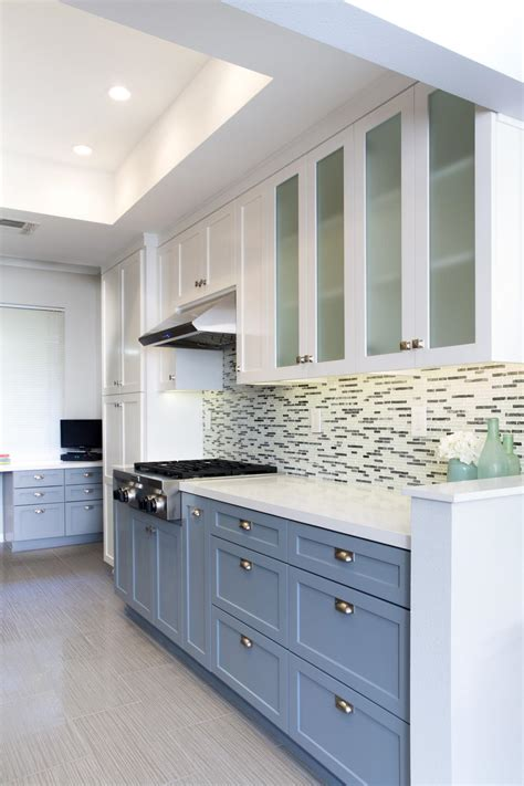 kitchen color design ideas two toned kitchen cabinets as contemporary inspiration