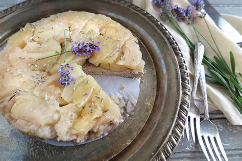 tatin style apple and lavender cake aip