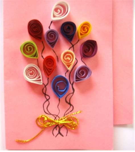 Designs For Greeting Cards With Handmade Paper - quilling handmade birthday greeting card designs 2015