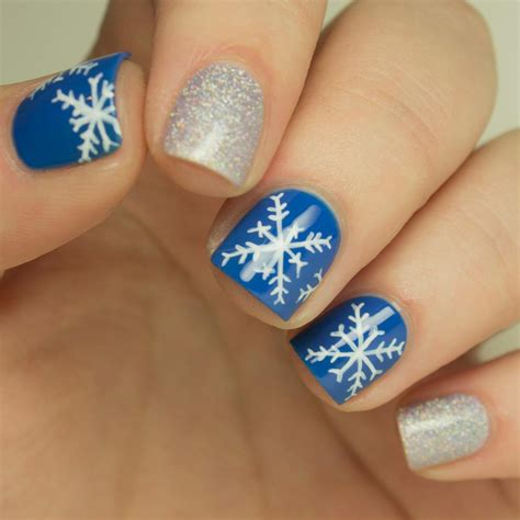 snowflake pattern for nails nail art how to snowflake design more com