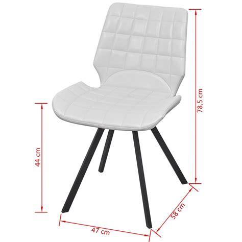 sedie similpelle sedia da pranzo in similpelle 4 pezzi colore bianco
