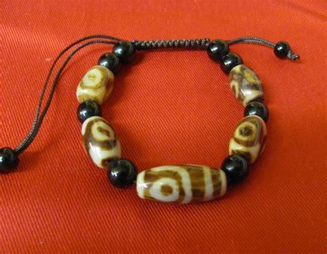 tibetan dzi bead bracelet moon tibetan gift shop