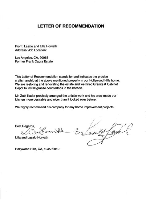 cover letter recommendation recommendation thank you letter cover letter database