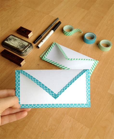 diy envelopes diy envelope with washi key lime digital designs