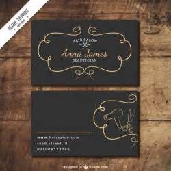 hair salon card vector free