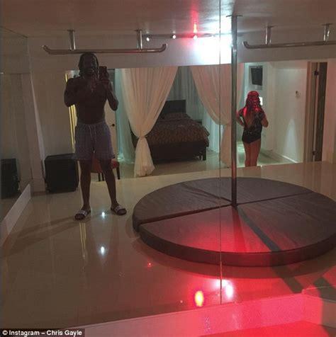 bedroom ceiling mirror west indies batsman chris gayle introduces fans to strip