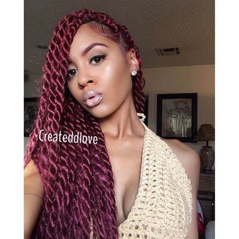new braid style cherry twist red jumbo twist createdlove pinterest protective