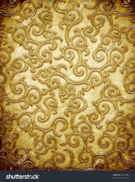 gold pattern metal gold metal pattern on paper backgrond stock illustration