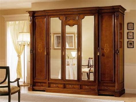Dining Room Armoire by Mirror Wardrobes For Elegant Bedroom Designs
