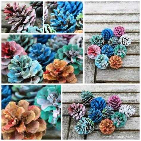 how to make pine cone flowers flower power pinterest manualidad 5 ideas de manualidades de oto 241 o con pi 241 as
