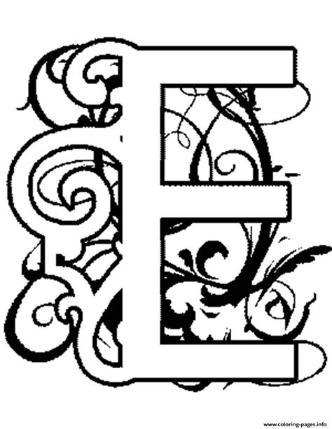 illuminated e alphabet s freef788 coloring pages printable