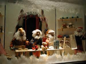 see the decorated christmas windows gingerbread houses