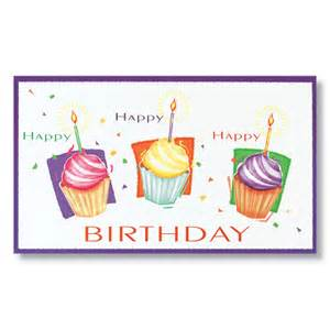 cupcake trio birthday card