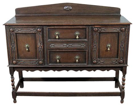 antique buffets sideboards antique oak barley twist jacobean buffet sideboard traditional buffets and sideboards by