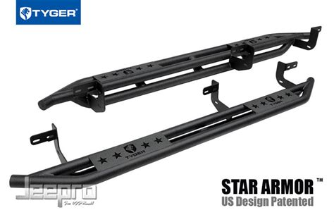 TYGER Star Armor Black Side Step Nerf Bars Fit 2009 2017