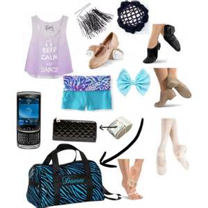 what s in my dance bag polyvore