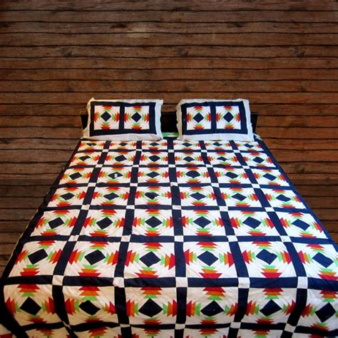Handmade Bedsheets - buy cotton multi color handmade sindhi tukri ralli