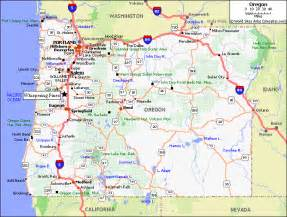 map of cities in oregon oregon california map