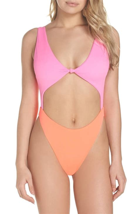 color block swimsuit one leith colorblock one swimsuit swimsuits 2018